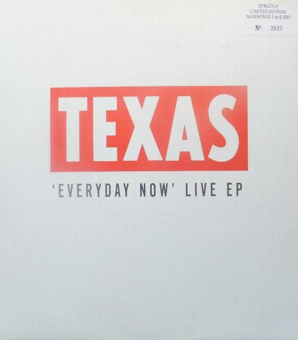 Texas - Everyday Now Live EP ( MINT )