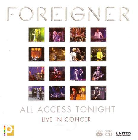 Foreigner - All Access Tonight ( Live In Concert 25 ) ( MINT )